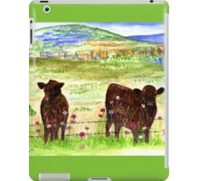 Cows in the field iPad Case/Skin