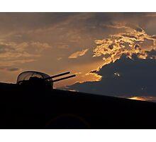 Lancaster Gun Turret at Sunset #1 Photographic Print