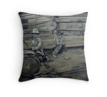 Irons in the Fire Throw Pillow