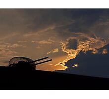 Lancaster Gun Turret at Sunset #2 Photographic Print