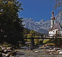 Ramsau Church, Bavaria #1 by David J Dionne