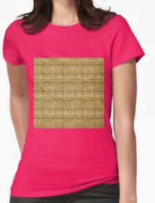 Gold Geometric Pattern One Womens Fitted T-Shirt