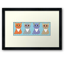 Only Four Cats Framed Print