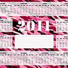 2011 Calendar in Pink and Burgundy - Sunday Start by Stacey Lynn Payne