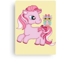 Pretty in Pink .. the pony and the owl Canvas Print