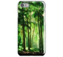 Light in the Jungles. Viridian Greens. Mauritius iPhone Case/Skin