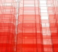 Red Abstract 3D Construct by bradyarnold