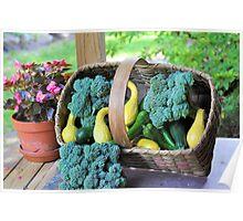 Fresh Garden Veggies Poster