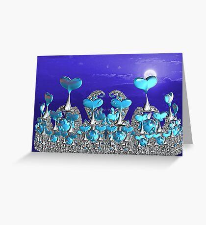 Wall of Hearts Greeting Card