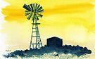 Windpump in the Karoo by Elizabeth Kendall