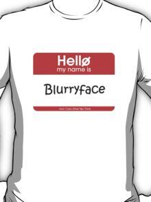 My Name's Blurryface Tag T-Shirt