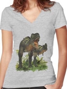 Dont Mess With Me, Dinosaur tee shirt Women's Fitted V-Neck T-Shirt