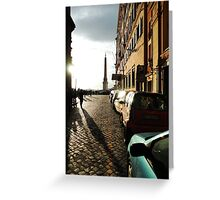 Breakthrough - Roman Alleyway to the Spanish Steps Greeting Card