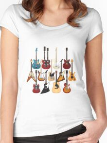 Too Many Guitars! Women's Fitted Scoop T-Shirt