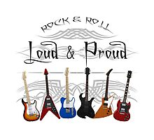 Guitars: Loud and Proud Photographic Print