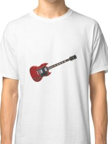 Red Electric Guitar Classic T-Shirt
