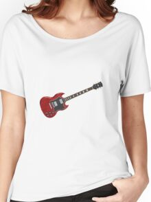 Red Electric Guitar Women's Relaxed Fit T-Shirt