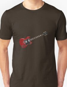 Red Electric Guitar Unisex T-Shirt