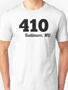 Area Code 410 Baltimore MD T-Shirt