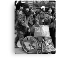 Equal Pay Rally 2 Canvas Print