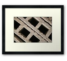 Gray Bricks Framed Print
