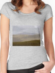The Colours of Welsh Mountains Women's Fitted Scoop T-Shirt