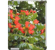 Red Flower Blossoms on a Tree iPad Case/Skin