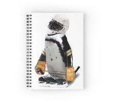 Little Mascot Hockey Player Penguin Spiral Notebook