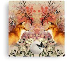 Fox Moonlight Canvas Print