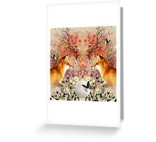 Fox Moonlight Greeting Card