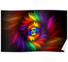 Feathery Spiral Poster