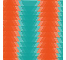 Abstract retro orange and blue pattern Photographic Print