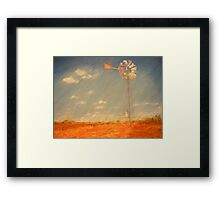 Grandpa's Windmill Framed Print
