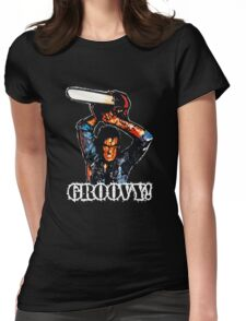 Evil Dead Ash - Groovy! Womens Fitted T-Shirt
