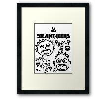 Die Antwoord - Cartoon White Framed Print