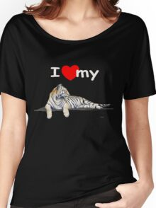 I love my tiger (for dark) Women's Relaxed Fit T-Shirt
