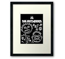 Die Antwoord - Cartoon Black Framed Print