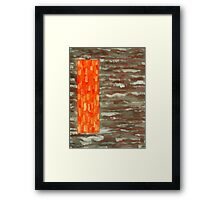 ABSTRACT 487 Framed Print
