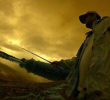 Nick trout fishing at Pemberton, WA by BigAndRed