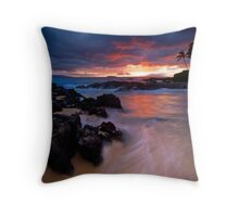 Pa'ako Beach Drift Throw Pillow