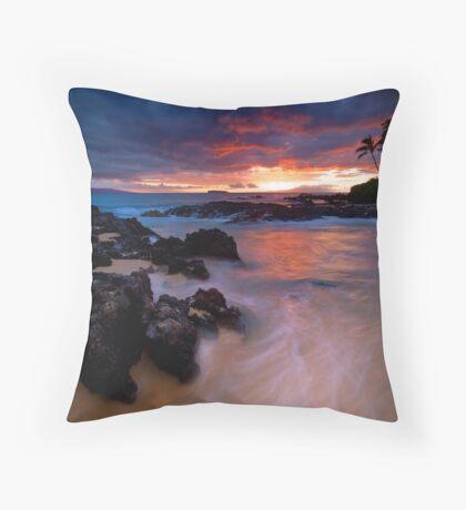 Pa'ako Beach Drift Throw Pillow
