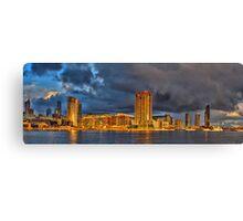 Golden buildings - Melbourne Docklands, Australia Canvas Print