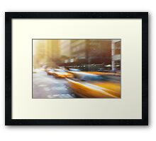 Yellow Cabs Framed Print