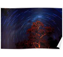 Star trails. Poster