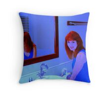 The Lady in The Mirror   Throw Pillow