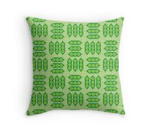 Happy Peapods Throw Pillow
