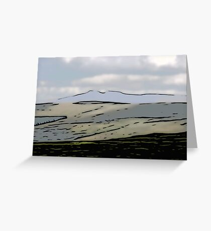 Distant Pen y Fan (Cut-Out)  Greeting Card