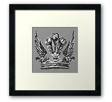 WINGED CROWN Framed Print