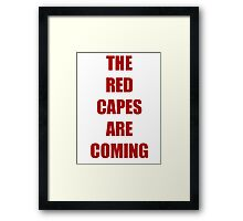 Batman vs Superman The red capes are coming Framed Print