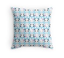 Super Cute Kawaii Bunny and Panda Throw Pillow